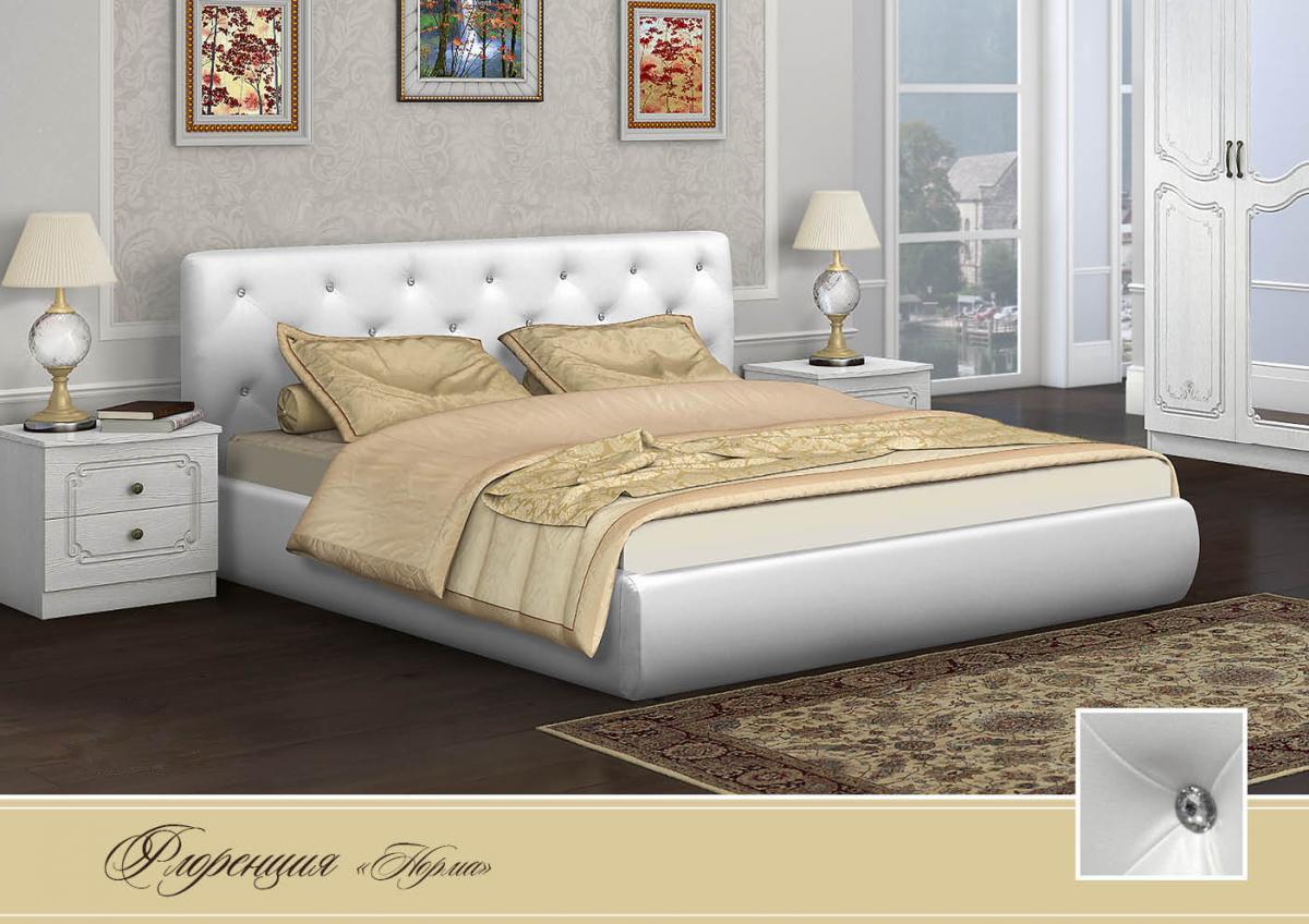Кровать с мягким изголовьем и подъемным механизмом